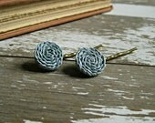 Light Blue Rosette Bobby Pins - ponyupdesigns