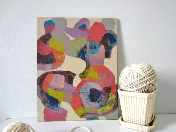 Abstract - Lavender, Chartreuse, Pink