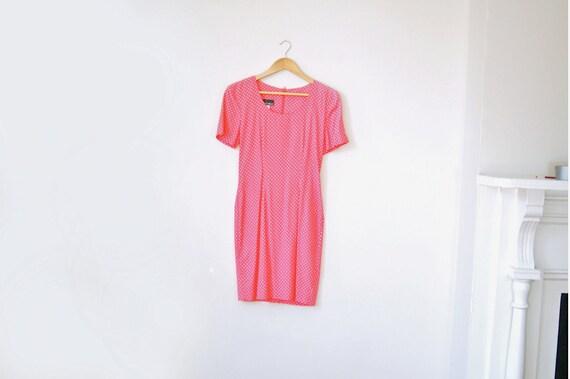Pink and White polkadot dress