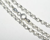 Sterling Silver Rollo Chain Italian Style Sterling Silver Necklace