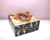 Tea Box Victorian Style Box Engagement Wedding Woman Gift Idea Christmas Treasure Box - SelenarteDecoupage