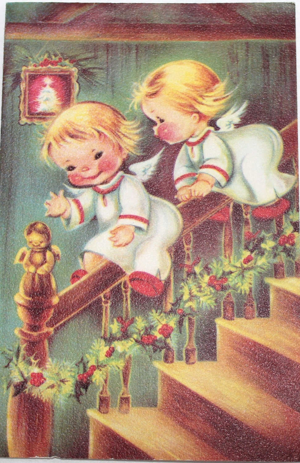 the gallery for vintage angel christmas cards. Black Bedroom Furniture Sets. Home Design Ideas