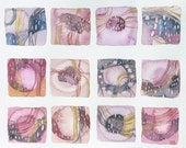 flow squares (original watercolor) - ValeriaKondor