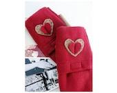 Typist Transcriber Fingerless Gloves with Hand Warmers Pockets