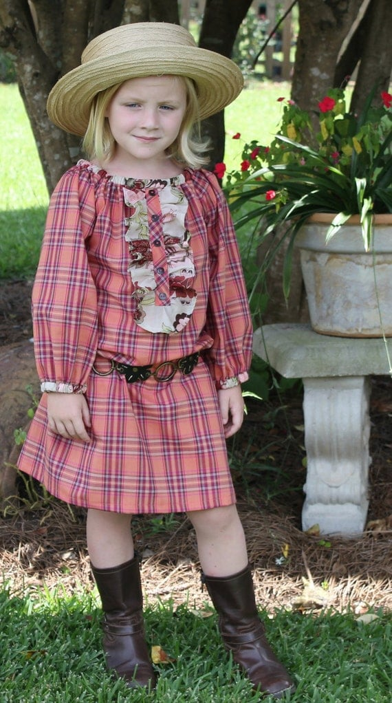 Matilda - Girl's Peasant Dress Pattern PDF. Girl's Long Sleeved Sewing Pattern.Tutorial  Sizes 12m-10 included