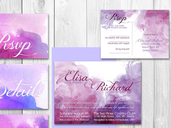 watercolour invitations pictures