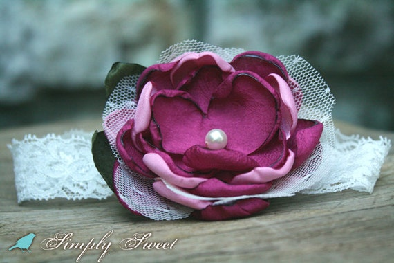 Sweet Berry Flower Headband