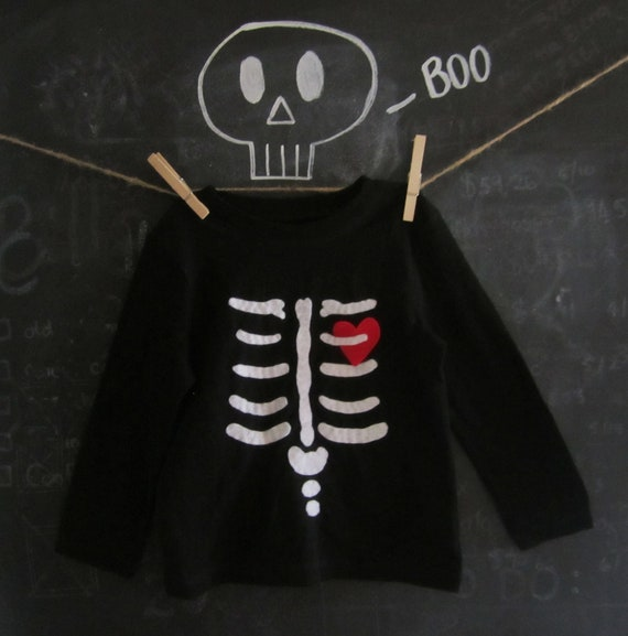 Halloween Skeleton Toddler Shirt - BOY