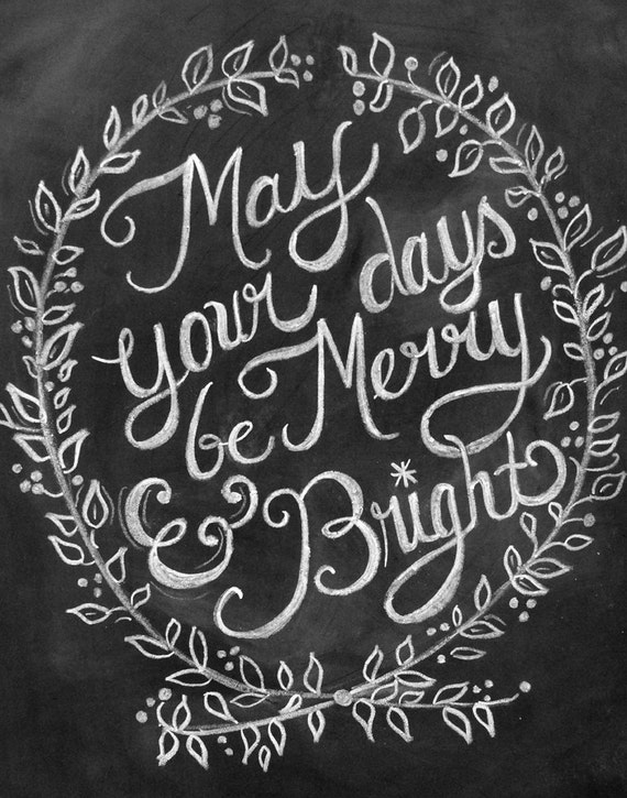 Holiday Chalkboard Print by LilyandVal via Etsy