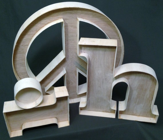 Unfinished Custom Wood Letters