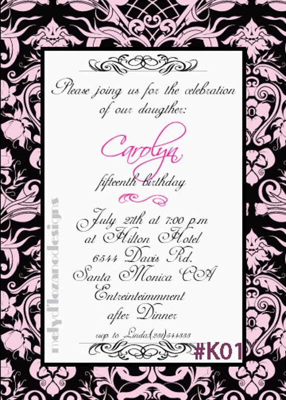 English quinceanera invitation wording quinceanera invitation wording in english image search stopboris Images