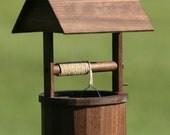 Miniature Wishing Well (Walnut) - JonahsSign