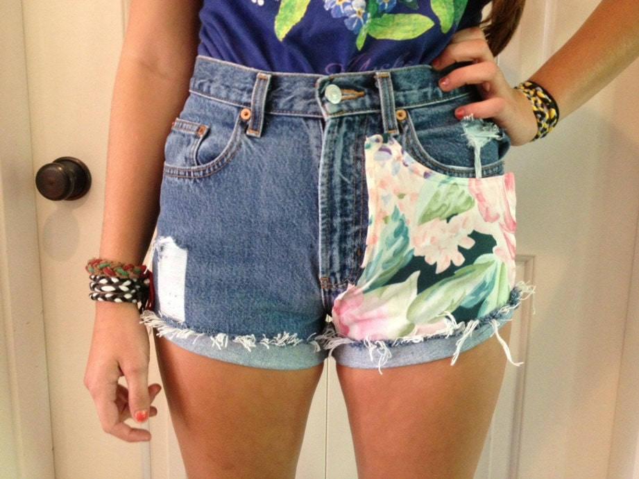 high waisted shorts designs - photo #2