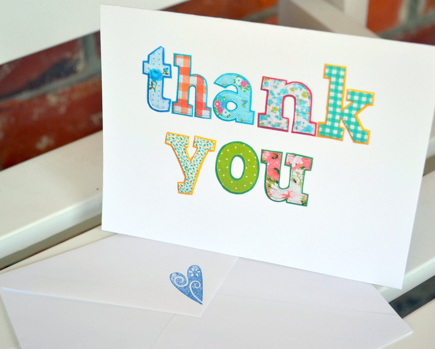 Bridal Shower Thank You Card Wording For Mother In Law : ... you card (set of 10)- thank you note- pretty thank you card- bright