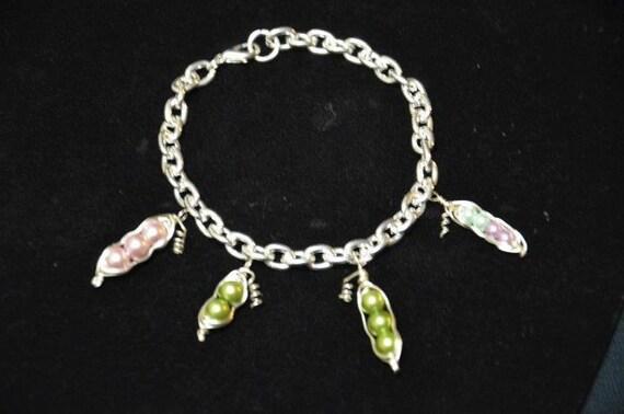 Custom Peapod Charm Bracelet