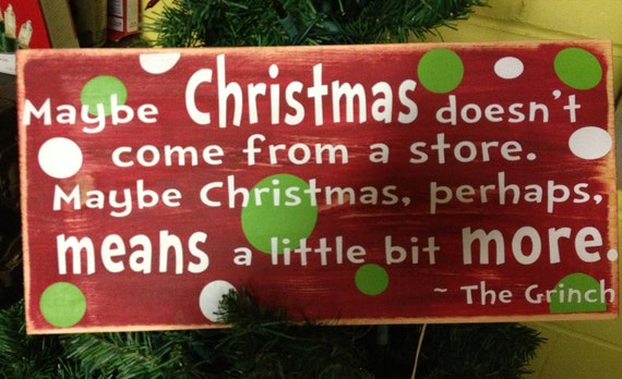 The Grinch Who Stole Christmas quote vinyl board