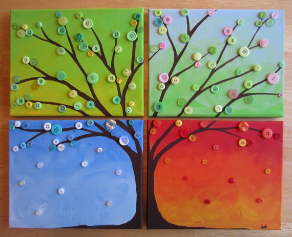 Four seasons tree painting