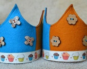 SALE Wool Felt Crown - Cupcakes