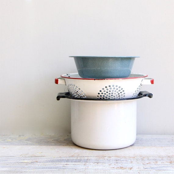 Vintage Enamelware and Graniteware Collection