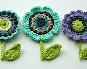 Crochet Flower Motifs - Crochet Garden Series - AnnieDesign