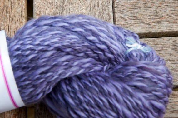 Handspun Merino in Shades of Purple 53g/146yds