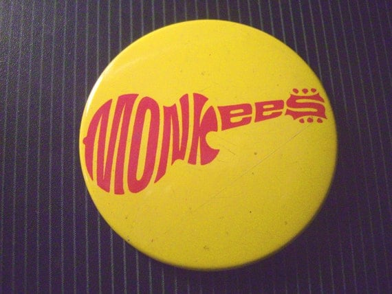 1967 MONKEES Pinback guitar