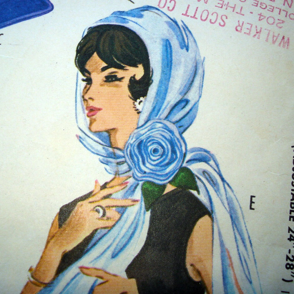 1960s Vintage Sewing Pattern  Beret Scarves Bags Belt  McCalls 2470 Sewing Patterns For Chemo Head Scarves