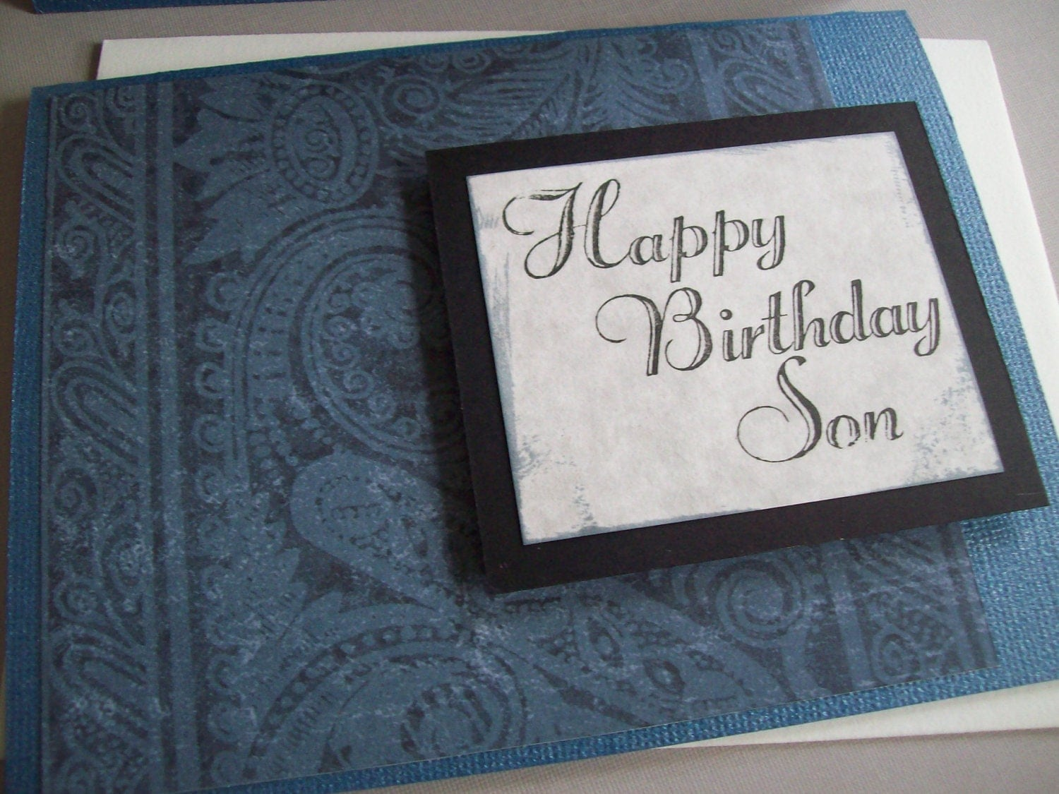 Etsygreetings handmade cards son birthday card son birthday card m4hsunfo