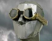 retro modern brass glaciers ski goggles - atomefabrik