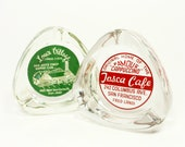 Vintage Ashtray Glass Set Advertising Tobacciana  Retro Home Decor Collectible Red Green PeachyChicBoutique on Etsy