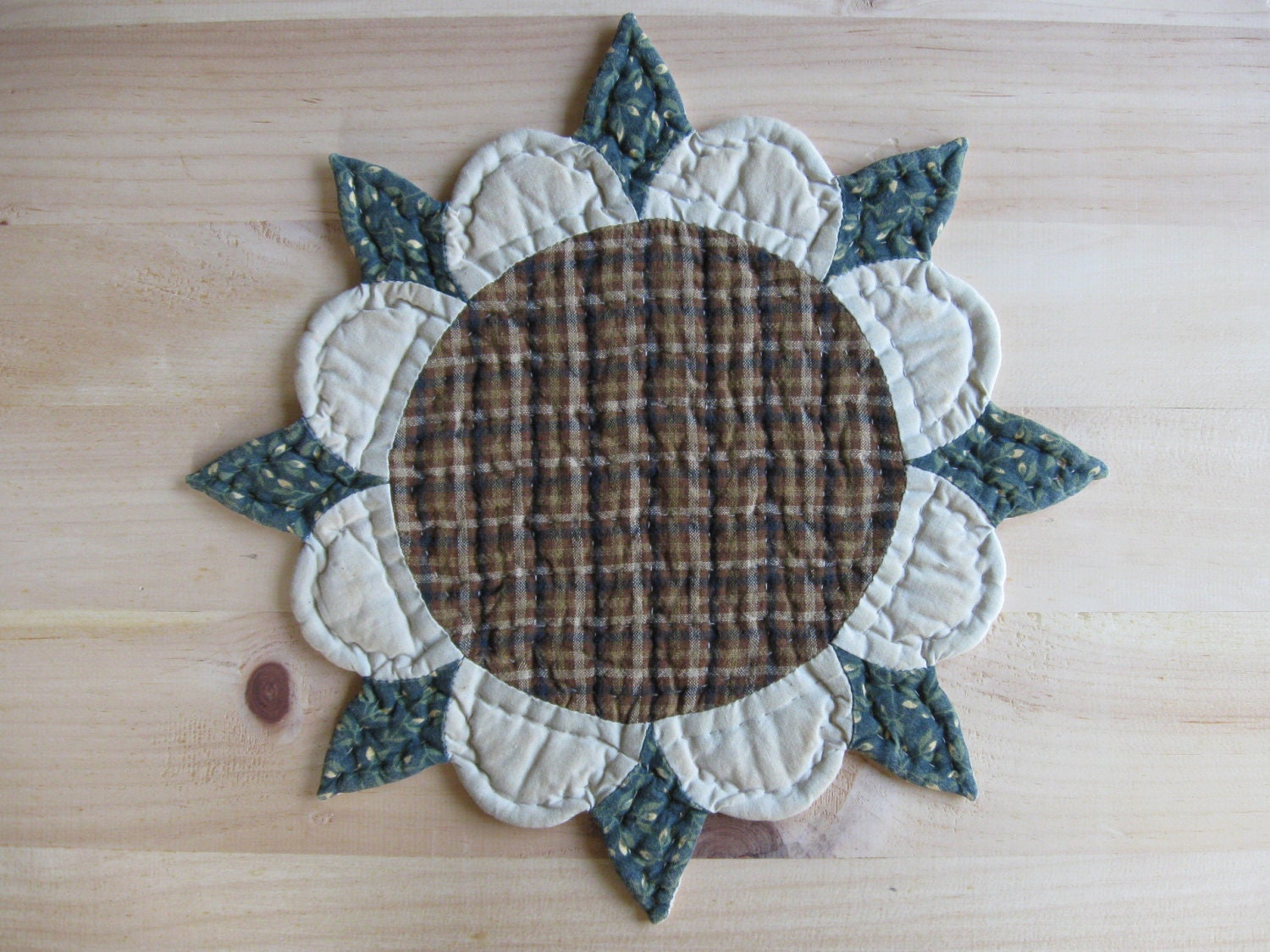 ... Table Topper Sunflower Rustic Decor Country Kitchen Decor Farmhouse