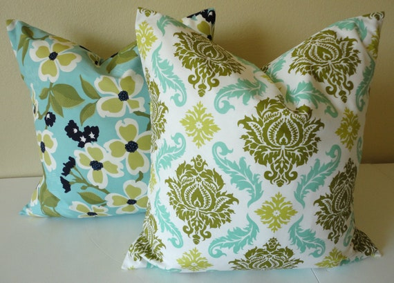 SINGLE 18 x 18 Pillow Cover // Dogwood Pond