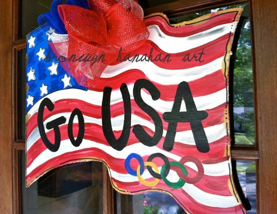 USA Olympic Flag Door Hanger - Bronwyn Hanahan Original