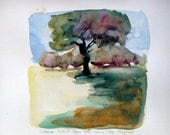 Victoria Park, St. Agnes gate, 2012, 17x17 cm, original watercolour painting