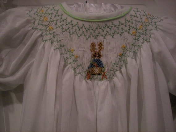 Peter Rabbit Hand Smocked Bishop Dress