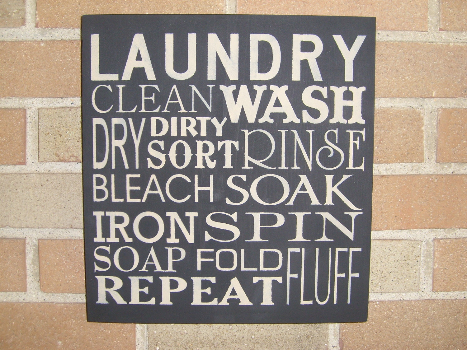 Laundry room signs wall decor interior decorating for Room decor signs