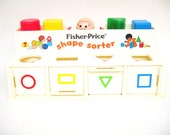 Fisher Price Shape Sorter Vintage Baby Toddler Toy - toysofthepast