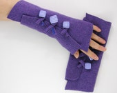 fingerless gloves arm warmers fingerless mittens arm cuffs recycled wool lilac purple tagt curationnation