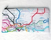 British subway map zippered pencil case - LittleCutieCakes