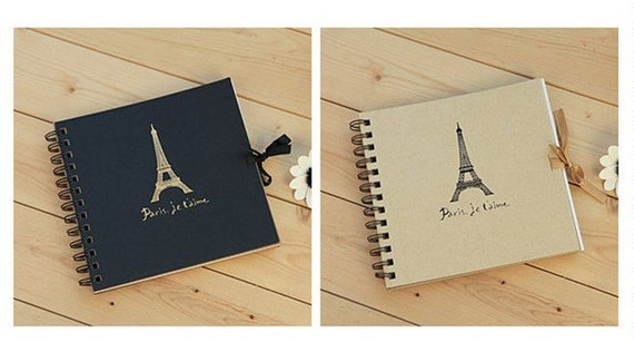 Korea DIY Kraft Paper Vintage Scrapbook Album Photo Album Sets -Eiffel Tower