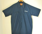 Vintage 1950s Service Station Shirt - George - L/XL