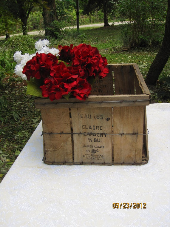 1 James Crates/Wooden Apple Crate- Home Decor, Fireplace Box, Planter, Gift,Outdoor Decor, Wedding Decor, Storage Basket