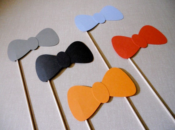 Bow Tie Photo Props.  Bow Tie Photo Booth Props.  Photo Props.  Photo Booth Props.  Set of 5.  Variety of Colors.
