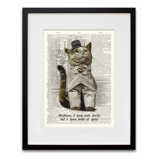 whiskerprints dictionary prints on Etsy