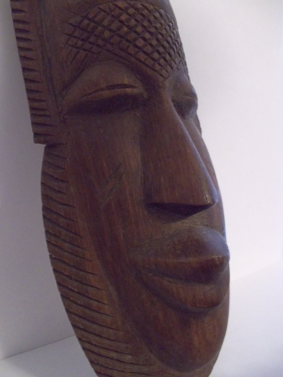 African masks mid century carved wood