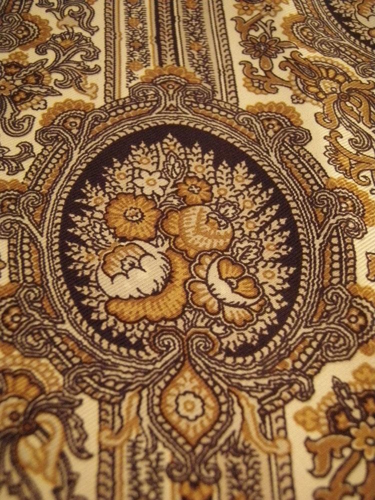 Vintage Italian Silk Scarf Alcott and Andrews Black and White Silver  Vintage Italian Silk Scarves