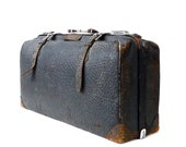 Antique Walrus Leather Suitcase - marybethhale