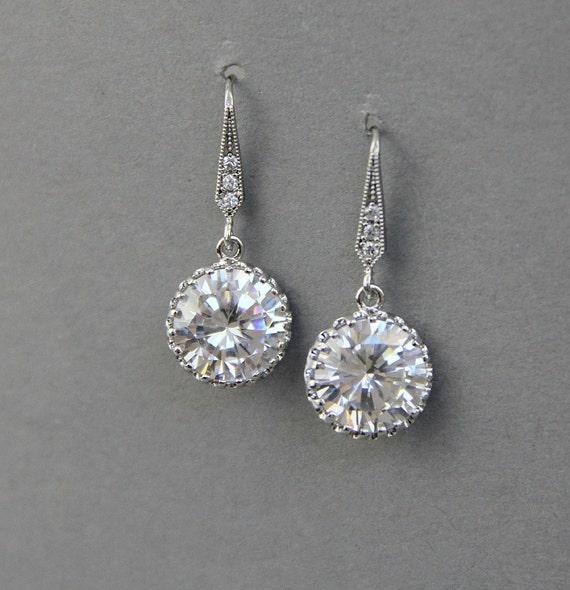 Wedding crystal  earrings, rhinestones earrings,dangle bridal earrings ,wedding jewelry, pearl jewelry, bridal party, bridesmaids earrings