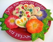 Hearts and Flowers Sugar Cookie Valentines Baked Goods - MoonLightCookieArt