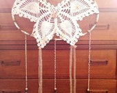 Mariposa Dreams - Upcycled Butterfly Doily Dreamcatcher